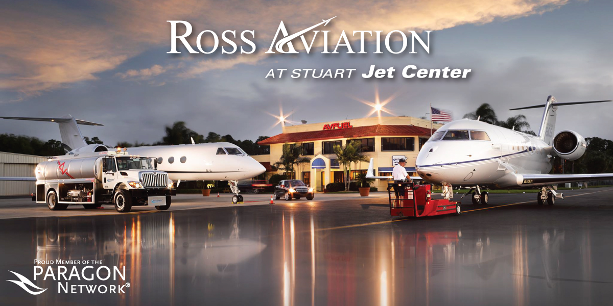 Ross Aviation at Stuart Jet Center in Palm Beach Joins The Paragon Network