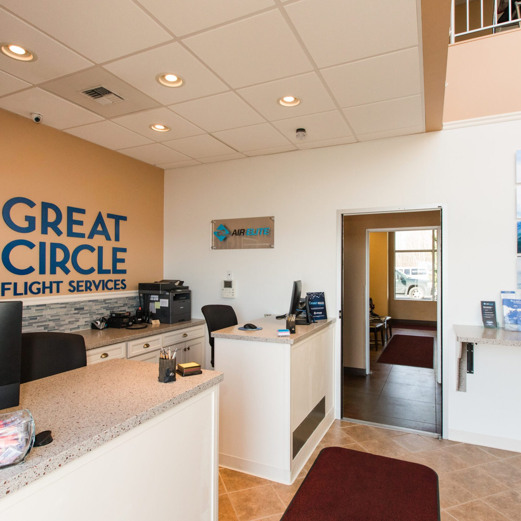 Great Circle Flight Services - Ross Aviation Anchorage lobby