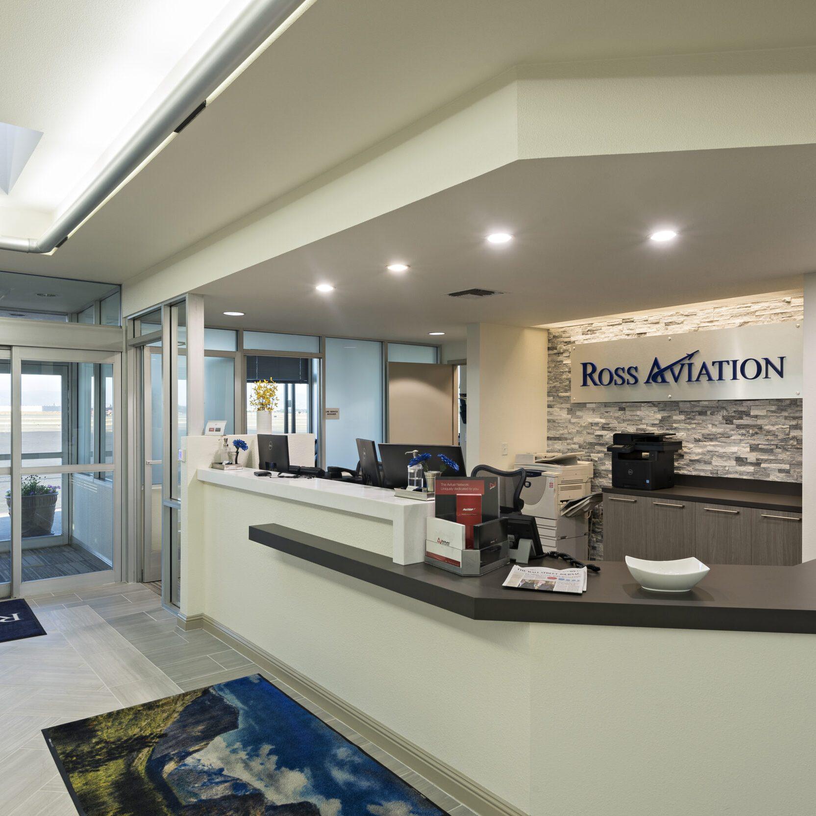 Ross Aviation Fresno FBO lobby